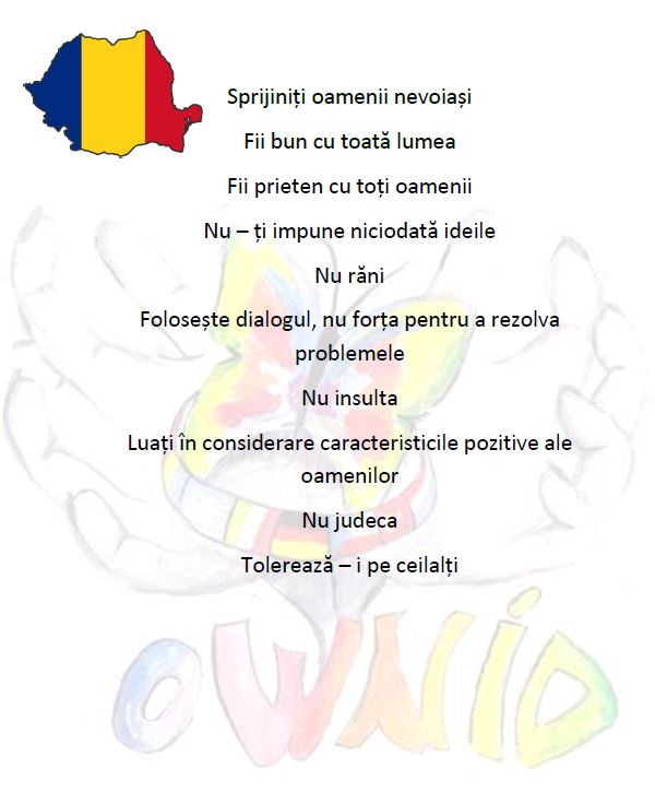 Decalogue of tolerance ROMANIAN